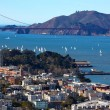 Golden Gate Bridge Sail Boats San Francisco California — Stock Photo