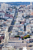 St Peter and Paul Church Hill Apartment Buildings San Francisco — Stock Photo