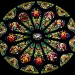 Rose Stained Glass Window Saint Peter Paul Catholic Church San F — Stock Photo