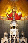 Christ Mosaic Interior Saint Peter Paul Catholic Church — Stock Photo