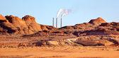 Navajo Generating Station Red Rocks Glen Canyon Recreation Area — Stock Photo