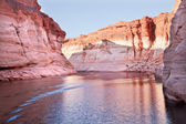 Pink Antelope Canyon Reflection Lake Powell Arizona — Stock Photo