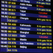 Flight schedule information board — Stock Photo