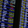 Flight schedule information board — Foto de Stock