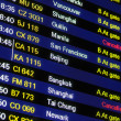 Stock Photo: Flight schedule information board