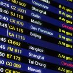 Flight schedule information board — Stock Photo #10204192