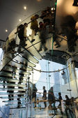 Glass stair in Apple store — 图库照片