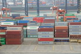 Hong Kong Kwai Chung Container Terminal — Foto de Stock