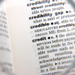 Stock Photo: Definition of credit