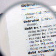 Definition of debt — Stock Photo