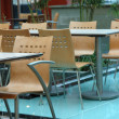 Interior design of food court area - Stock Photo