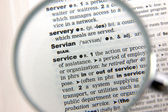 Definition of service — Stock Photo