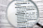 Definition of technology — Stock Photo