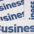 Stock Photo: Business heading of newspaper