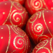 Royalty-Free Stock Photo: Rows of christmas balls