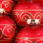 Red christmas balls — Stock Photo #8820326