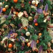 Christmas ornaments on tree — Stok fotoğraf