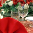Wedding banquet table details — Stock Photo #8820754