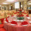 Table setting in wedding banquet — Stock Photo #8820763