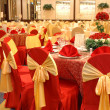 Table setting in wedding banquet — Stock Photo