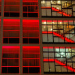 Royalty-Free Stock Photo: Office building in red lighting
