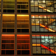 Royalty-Free Stock Photo: Office building in orange lighting