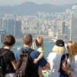Royalty-Free Stock Photo: Famly sightseeing the Hong Kong skyline