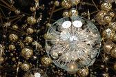 Christmas light and decoration — Stock Photo