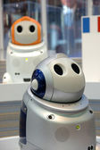 Robot displayed in telecom exhibition — Stock Photo