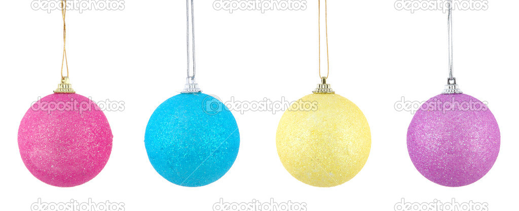 Christmas ball series in isolated white background — Stock Photo #8820195