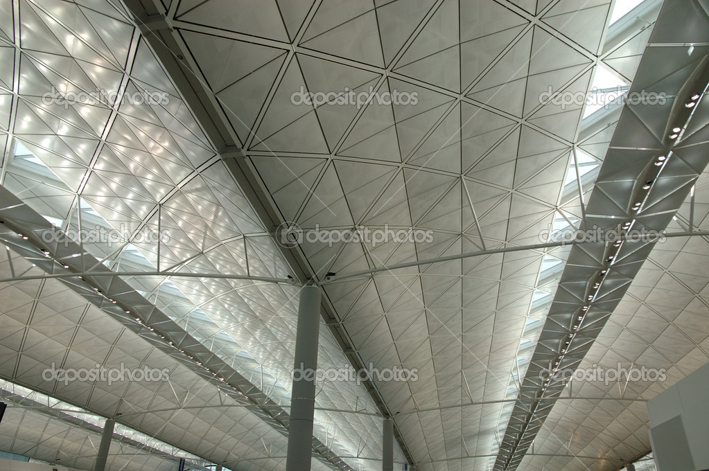 Interior structure of a modern international airport  Stock Photo #8820475