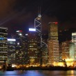 Night scene of Hong Kong cityscape — Stock Photo