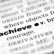 Definition of achieve — Stock Photo