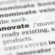 Definition of innovate — Stock Photo