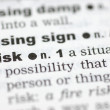 Definition of risk — Stock Photo