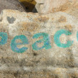 Royalty-Free Stock Photo: Peace on stone background