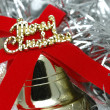 Close up of christmas bell — Stock Photo