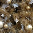 Ornaments on christmas tree — Stock Photo