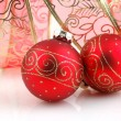 Red Christmas decoration — Foto Stock