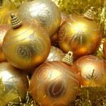 Golden christmas balls — Stock Photo #8872759
