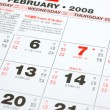 Lunar calendar 2008 — Stock Photo #8872877
