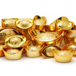Stock Photo: Gold ingot ornaments