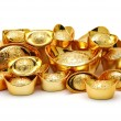 Gold ingot ornaments — Stock Photo #8872916