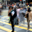 Blurred crossing street — Stock Photo