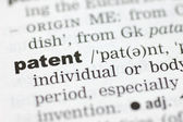 Definition of patent — Stock Photo