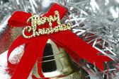 クリスマスの鐘のクローズ アップ — ストック写真