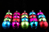 Multi-color christmas balls — Stock Photo