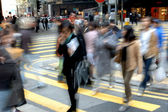 Blurred crossing street — Photo