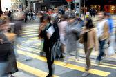 Blurred crossing street — Stock Photo