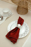 Elegant table cloth — Stock Photo